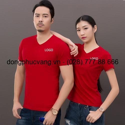 áo cổ tròn màu đỏ
