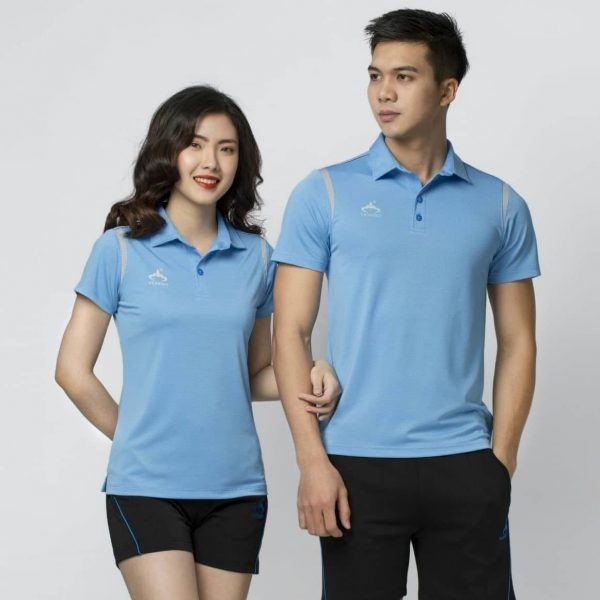 mẫu áo thể thao nam nữ xanh da