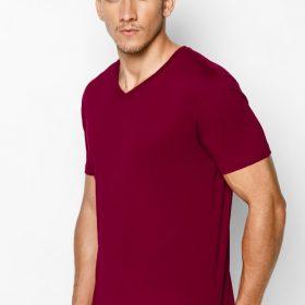 áo phông nam đỏ đô