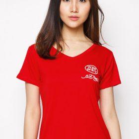 đồng phục áo phông đỏ nữ