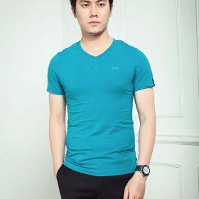 áo phông đồng phục xanh