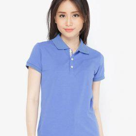 áo thun polo nữ cổ xanh