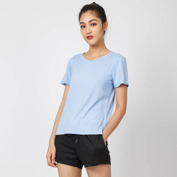 mẫu áo thun T -shirt xanh nữ