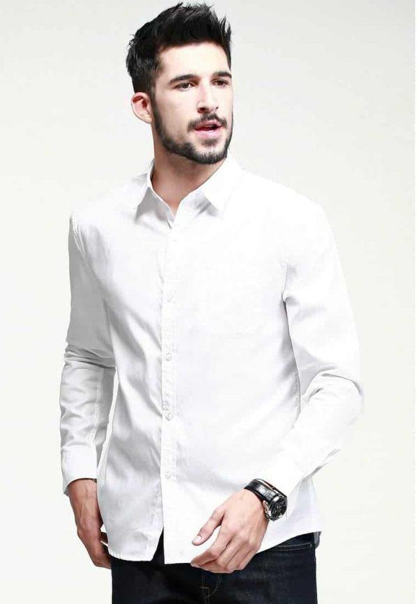 áo sơ mi nam màu trắng