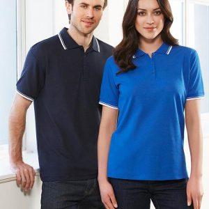 áo thun polo cổ bẻ xanh đen cho nam nữ