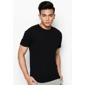 áo phông nam màu đen