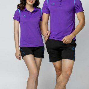 áo thể thao thun màu tím