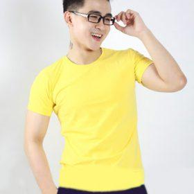 áo thun trơn màu vàng nam
