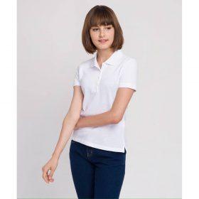 áo thun polo trắng cho nữ